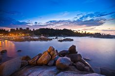 Parai Beach, A Stone Bangka Island, Mountains, Stone, Beach, Water, Travel, Outdoor, Gripe Water, Outdoors