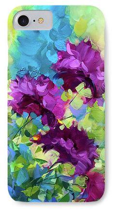 Confetti Blue Delphiniums IPhone Case by Nancy Medina