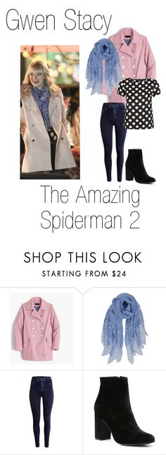 """""""Gwen Stacy 3"""" by madelinem-2002 ❤ liked on Polyvore featuring J.Crew, Humble Chic, New Look, Witchery, Marvel, fandom, marvel, Superhero, spiderman and GwenStacy"""