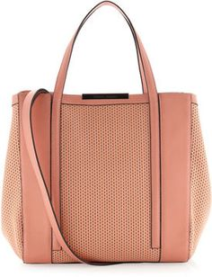 shopstyle.com: Charles Jourdan Baily Perforated Block Tote Bag, Coral