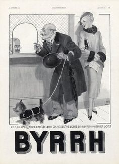 Georges Léonnec  (1881 – 1940). Byrrh, 1935. Example of a monogram aligned with skirting board angle. [Pinned 23-i-2015]