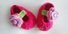 Cute Flower Bugs Baby Shoes Free crochet pattern