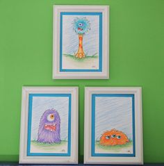 BLACK FRIDAY SALE Kid's Monster Art // Monster by BlueVoidDesigns