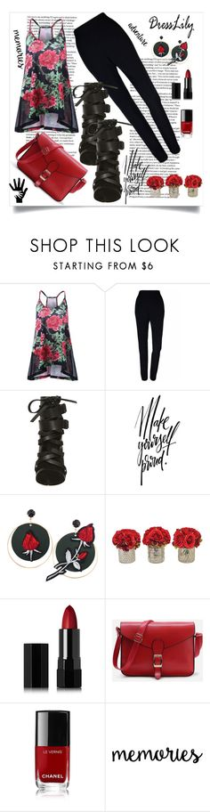 """""""Red and black"""" by puljarevic ❤ liked on Polyvore featuring Plakinger, The French Bee, Serge Lutens and Chanel"""