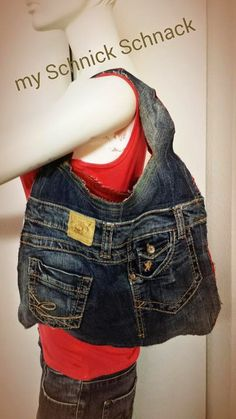 I love it - Bag DIY Upcycling Jeans Torebka z Jeansow