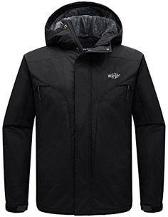 9af71a94e69 Wantdo Men s Hooded Waterproof Rain Jacket Fleece Windproof Ski Jacket  Review