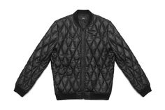 Quilted Leather Bomber from Stampdla.com