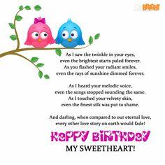 Happy birthday poems wife