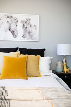 Bring your bedroom design scheme alive by simply injecting an element of yellow. #showhome #tauposhowhome #house #interiordesign #kamakaplan #generationhomesnz 4 Bedroom House Plans, Home Bedroom, Bedrooms, Bed Pillows, Pillow Cases, How To Plan, Interior Design, Yellow, Pillows