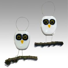 Owl Ornaments - Lori Judge | Touchstone Gallery