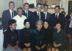 Matilda Borden with 10 of her children- at funeral of Martin Chapman in1967. Back row- Ivor, Francis,Helmer,Howard, Albin , Helge. Front row- Minnie, Connie, Matilda, Fay ,Margaret.