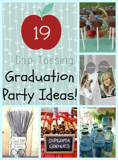 Graduation party ideas to celebrate your preschooler, Kindergartner, 8th grader, high schooler, or college grad! Get ready to celebrate them. Time goes...