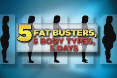 5 Fat Busters, 5 Body Types, 5 Days