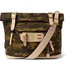 Master-piece Surpass Leather-trimmed Camouflage Nylon Tote Bag