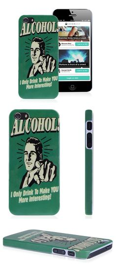 Alcohol iPhone 5 Case Protective Quote Saying Cover Case for iPhone 5 5S #alcohol #iphone5 #case #protective #quote #saying #cover #iphone5 #apple $4.54