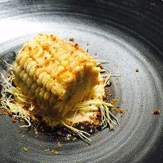 Corn dessert for our restaurant @Jungsikdang #seoul #cornicecream  #corndessert #jungsik #jungsikdang #corn #platingdessert #gastoart  Corn cremeux, white chocolate vanilla corn sauce, smoked corn, corn powder, paprika powder