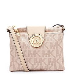 MICHAEL Michael Kors Signature Metallic Saffiano Large Cross-Body Bag