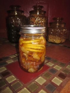 From G.R.I.T.S. (Girls Raised In The South) Cold Remedy:  I made mine today and it has to set in the frig for 6 weeks. Is yous made yet? Last month we posted a home remedy for cold season. This is simply honey, Lemon slices and Ginger slices. (I add Turmeric slices in mine as well) When cold season hits you add 1 tsp of the honey mixture to your hot tea and it really does help with congestion. ~Melinda~