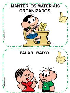 Combinados com a turma da Monica - DaniEducar Portuguese Language, Fun Activities For Toddlers, Learn Portuguese, Teaching Aids, Homemade Baby, Working Moms, Social Platform, Art School, Professor