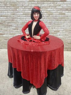 New York, New York red and black strolling table provided by J&D Entertainment, Houston Texas Living Table, Entertainment Company www.jdentertain.com