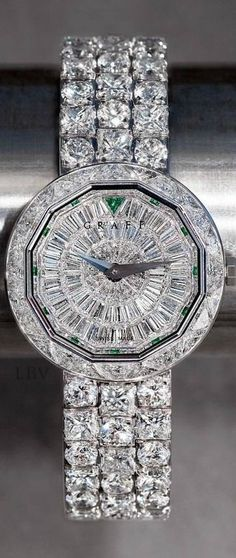 Graff - All diamond watch - fine jewelry.