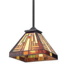 View the Quoizel TFST1508 Stephen 1 Light Mini Pendant with Tiffany Stained Glass at LightingDirect.com.