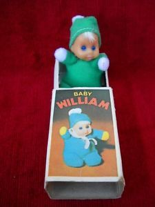 Bean dolls from the 70's in a matchbox sized box.