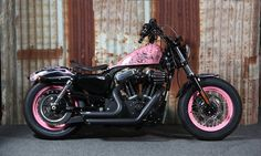 Don't tell mom, but Tracy C. just made the Harley-Davidson Naughty List. | Rocky Harley Davidson Pink Bike #HDNaughtyList