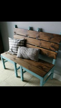 Bench made out of 2 old chairs!