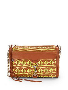 MAC Woven Leather Clutch