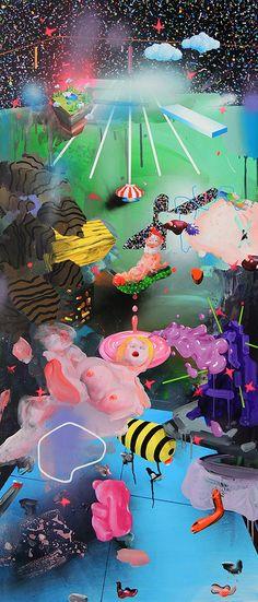 173 x 73 cm, acrylic and spray paint on canvas Acrylic Spray Paint, Spray Paint On Canvas, Original Paintings, Original Art, A Kind Of Magic, Garden Of Earthly Delights, My Works, Buy Art, Saatchi Art