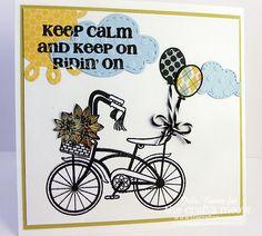 keep calm bike card
