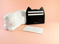Pink cat card holder travel wallet business by chatonnoirboutique lighten your load with the petite small wallet cat business card holder this feminine accessory colourmoves
