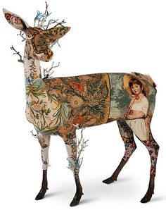 FRÉDÉRIQUE MORREL - elaborate, whimsical pieces made of any combination of foam, fur, tapestry and horn.