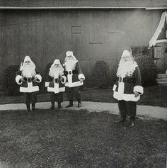 Student Santas at Santa Claus School in Albion, NY (1964) Arbus
