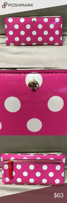 Kate spade wallet Gently used Pink and white kade spade wallet kate spade Bags Wallets