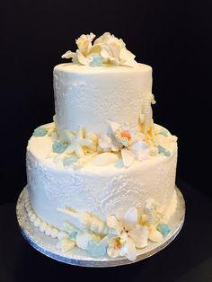 Beach Theme Bridal Shower cake.  Cake Art Design's by Marie