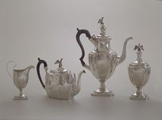 Tea and coffee service, ca. 1800 Attributed to Christian Wiltberger (American, 1766–1851) Silver