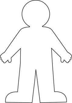 large paper doll template - 1000 images about prek human body on pinterest human