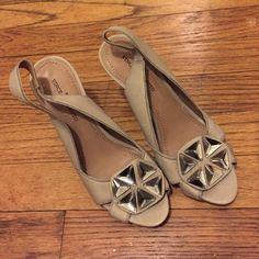 Vince Camuto jeweled heels 5.5 Flirty and fun jeweled grey heels. Worn once. Like new! Size 5.5 Vince Camuto Shoes Heels