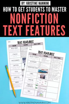Help upper elementary kids master nonfiction text features with the ideas, FREE downloads, and teaching tips at this blog post. Make reading to learn easier for 3rd, 4th, 5th, and 6th grade students. Details for graphic, informational, and organizational aids are included - as well as print features. An anchor chart, whole class practice, freebies, partner work, & more. #UpperElementaryReading #ThirdGrade #FourthGrade #FifthGrade #SixthGrade