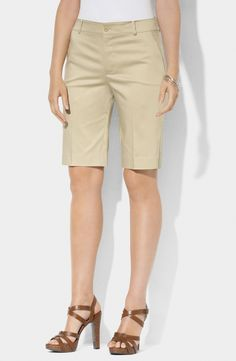 Lauren Ralph Lauren Slim Fit Bermuda Shorts | I am not very fond of bermudas, but this one from RL I love to wear. I have it in camel. Pretty!