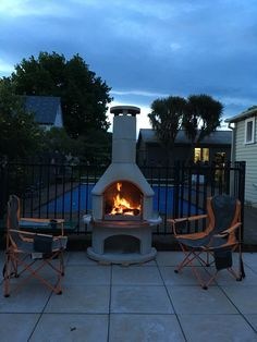 No doubt the Blommers will be spending those hot summer days in the pool, and those cool summer nights in front of their Buschbeck. Pizza Oven Outdoor, Fire Pits, Summer Nights, Garden Ideas, Bbq, Backyard, Outdoors, Australia, Cool Stuff