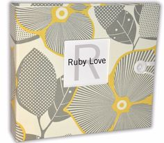 Gray & Yellow Blossoms Baby Memory Book - Amy Butler Collection