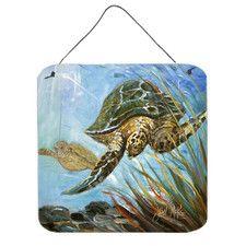 Loggerhead Sea Turtle by Jean McKee Painting Print Plaque
