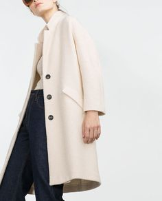 Image 3 of COAT WITH POCKETS from Zara