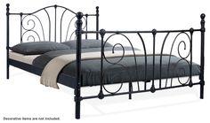 Clover I Black Bed