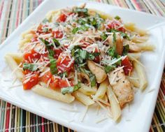 Eat Yourself Skinny!: Penne & Chicken Tenderloins with Spiced Tomato Sauce