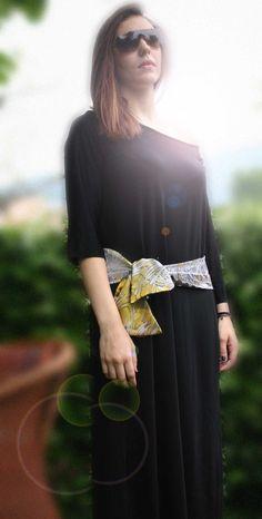 sciarpa / cintura confezionata con due  colori di RebecchiAtelier, €30.00 Etsy, Fashion, Moda, Fashion Styles, Fashion Illustrations