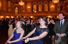 "February 21 Image of the Week - Since 2012, Wheaton College has hosted a ball on President's Day. It honors a tradition from the past called the Washington Banquet, held in honor of George Washington's birthday. This year 950 students attended the President's Ball which was held at the Palmer House Hotel in Chicago. Jaclyn Fortier '15 sent in this photo of her friends enjoying themselves on the dance floor, or, as she says ""having a jovial ol' time."""